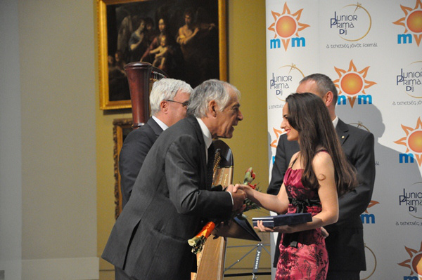 Gyöngyösi Ivett a 2012-es Junior Prima díjátadón