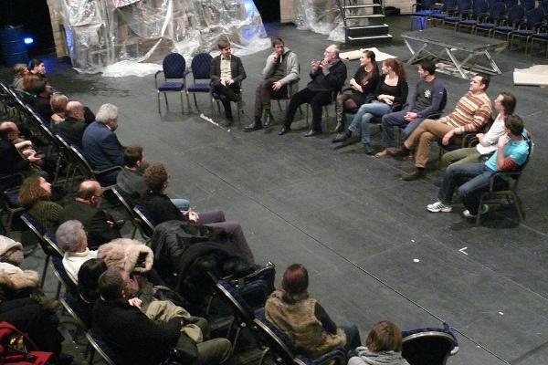 Közönségtalálkozó A fösvény után a Fidelio szervezésében