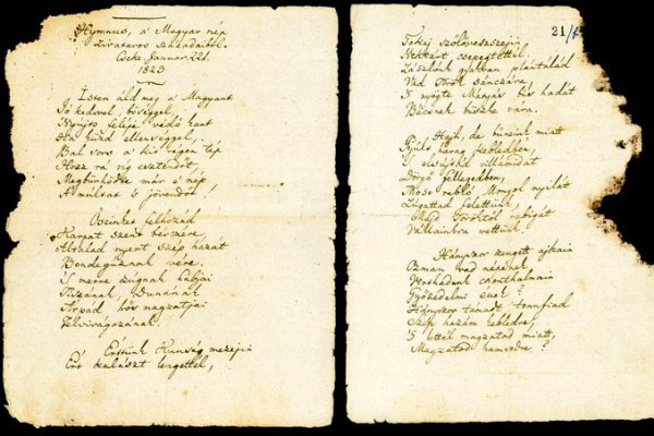Kölcsey Ferenc Himnusz-kézirata