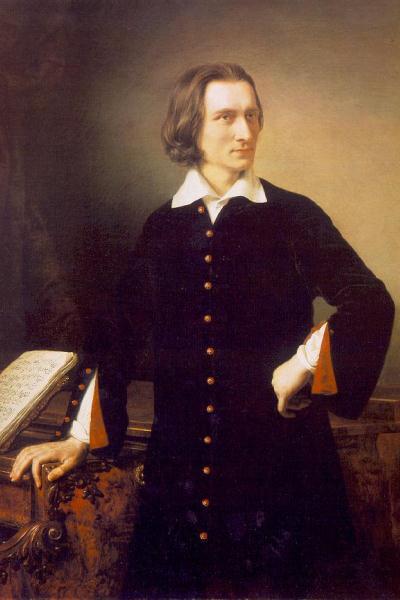 Liszt Ferenc 1847-ben (Barabás Miklós festménye)