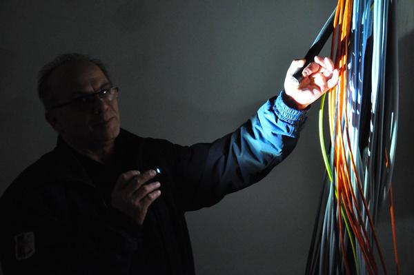 Az audiorendszer analóg kábelekkel készült - Bejárás a Budapest Music Center épületében 2013. január 13-án