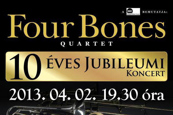 Four Bones Quartet - koncertplakát