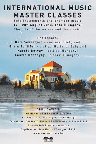 Tatai Nemzetközi Zenei Mesterkurzus poszter
