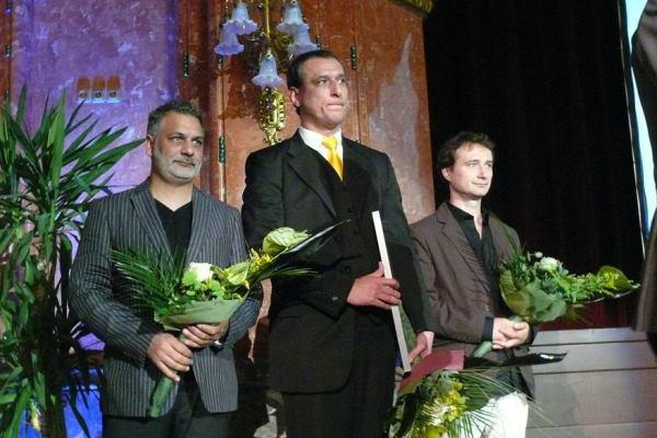 A Kaszás Attila-díj idei jelöltjei: Nyári Oszkár, a kitüntetett Borovics Tamás és Vass György - 13. Pécsi Országos Színházi Találkozó - 1. nap
