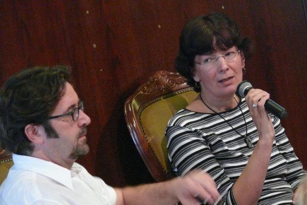 Lévai Balázs és Turbuly Lilla a Színésznők szakmai beszélgetésén - 13. Pécsi Országos Színházi Találkozó - 5. nap