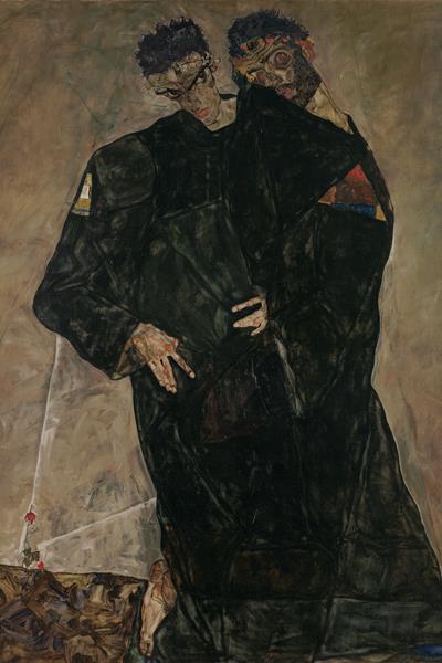 Egon Schiele: Remeték - részlet