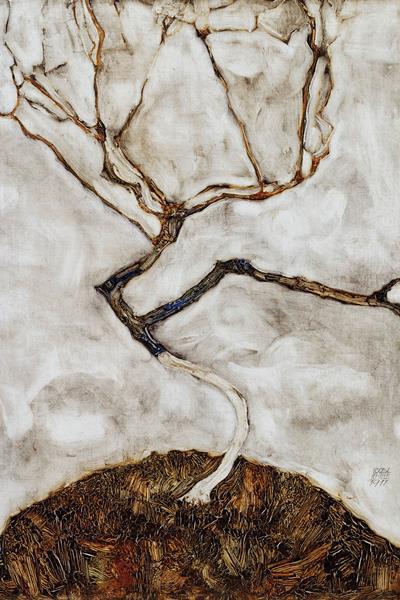 Egon Schiele: Fa késő ősszel - részlet