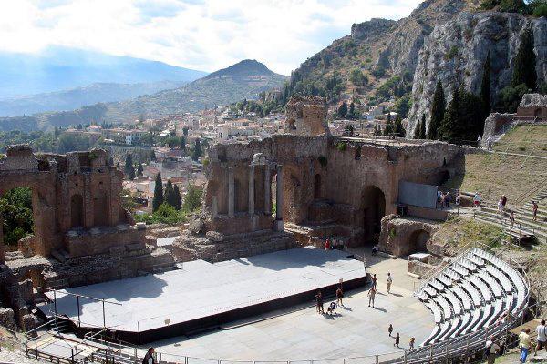 Taormina, görög színház