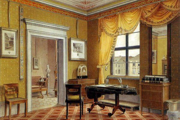 Biedermeier szobabelső