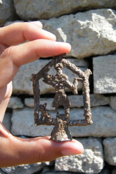 Az erdők istenének Aquincumban feltárt szobra