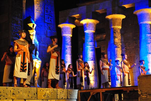 Aida a színpadon - Az Operaház Kínában