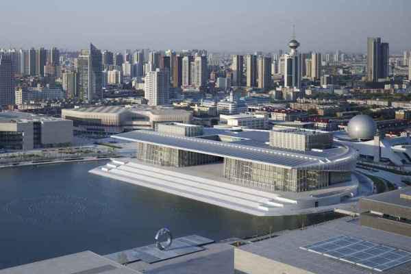 Hipermodern színház a város közepén - Az Operaház Kínában