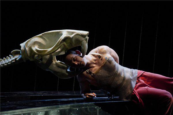 Orosz Ákos a Macbeth/Anatómia c. előadás próbáján
