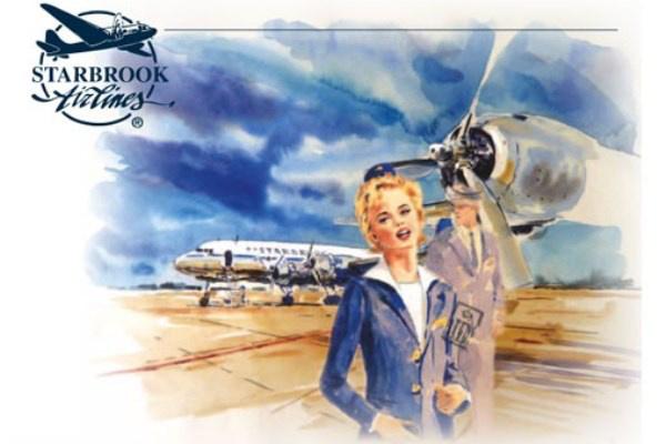 Stewardess - illusztráció