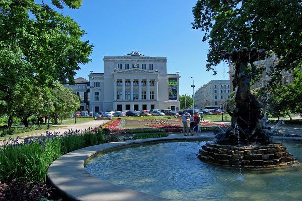 A Lett Nemzeti Opera épülete
