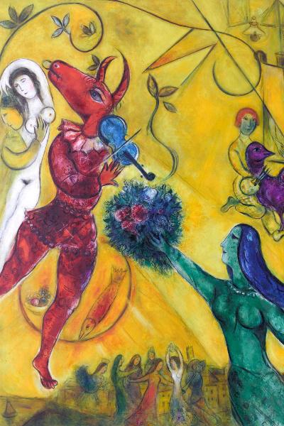Marc Chagall: La danse (részlet)