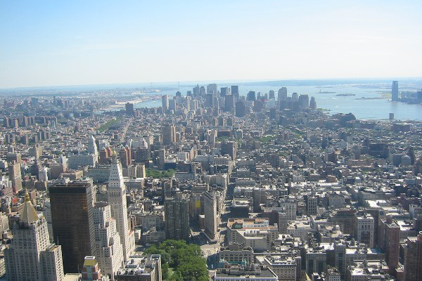 New York az Empire State Buildingről