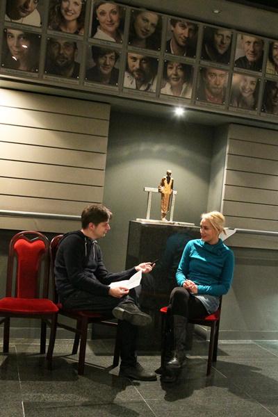 Készül az interjú Petrik Andreával