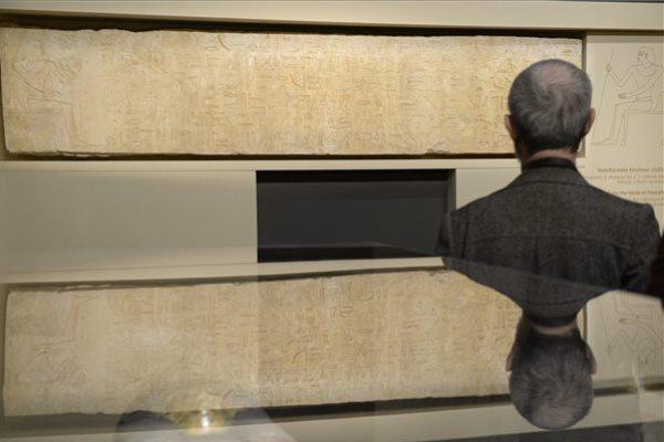A VI. dinasztia idején élt Haunefer sírrelief-töredéke a Szépművészeti újrarendezett egyiptomi kiállításán