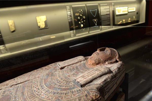 A Szépművészeti Múzeum újrarendezett egyiptomi állandó kiállításának részlete