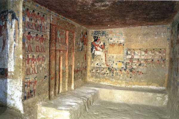 Egyiptomi sírkamra - illusztráció