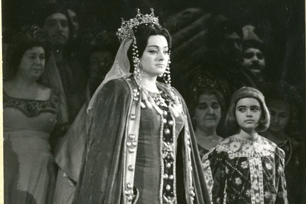 Komlóssy Erzsébet Gertrudis szerepében 1969-ben