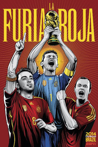 Spanyolország - Xavi, Iker Casillas, Andres Iniesta (Cristiano Sigeuira, ESPN)