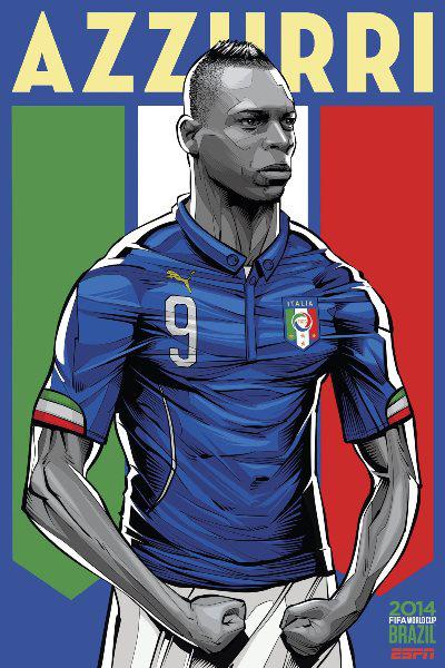Olaszország - Mario Balotelli (Cristiano Sigeuira, ESPN)