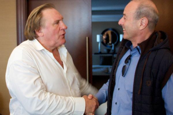 Gérard Depardieu és Harangozó Gyula