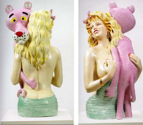 Jeff Koons: Rózsaszín párduc (1988)