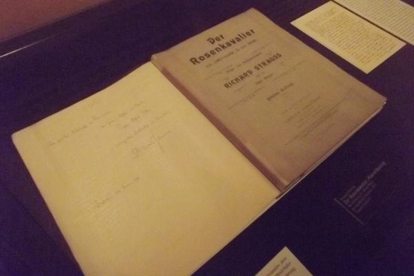 Osztrák Színházi Múzeum  - A Rózsalovag partitúrája