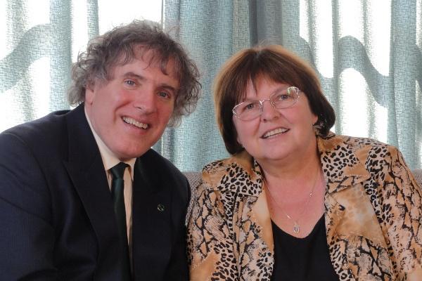 Hegedűs Endre és felesége, Katalin