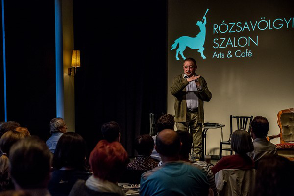 Színházak éjszakája 2014 - Jordán Tamás a Rózsavölgyi pódiumán
