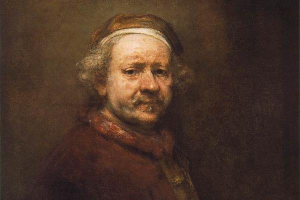 Rembrandt: Önarckép 1669-ből (részlet)