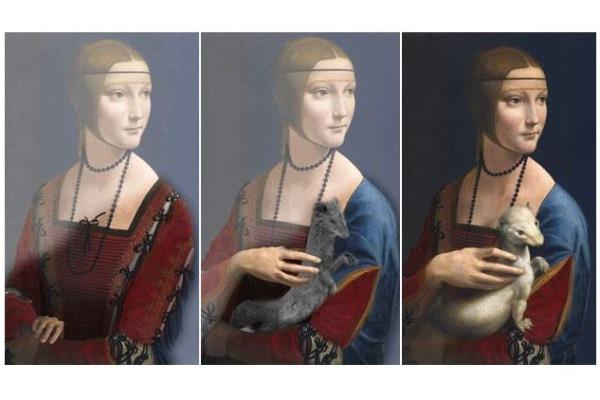 A Hölgy Hermelinnel változatai