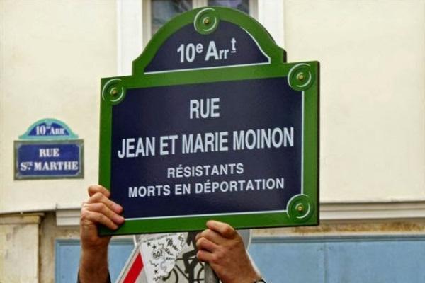 Utcatábla Jean Moinon nevével