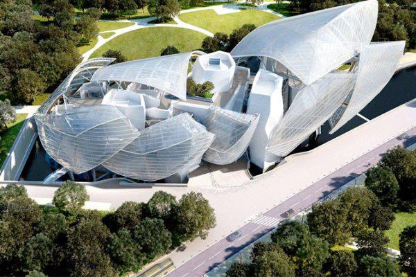 A Louis Vuitton Alapítvány székháza Párizsban