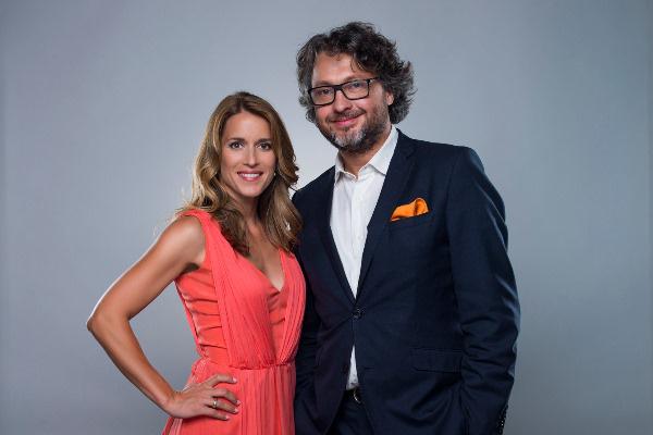 Varga Edit és Bősze Ádám műsorvezetők