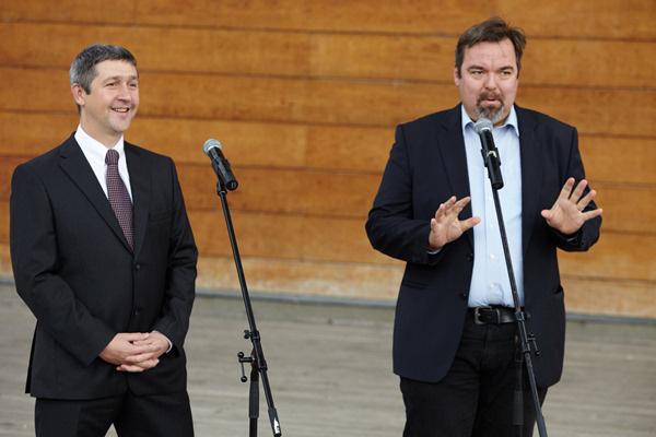 Ertl Péter és L. Simon László (Fotó: Nemzeti Táncszínház)
