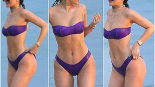 Kylie Jenner egyre durvább fürdőruhákban mutogatja a fenekét