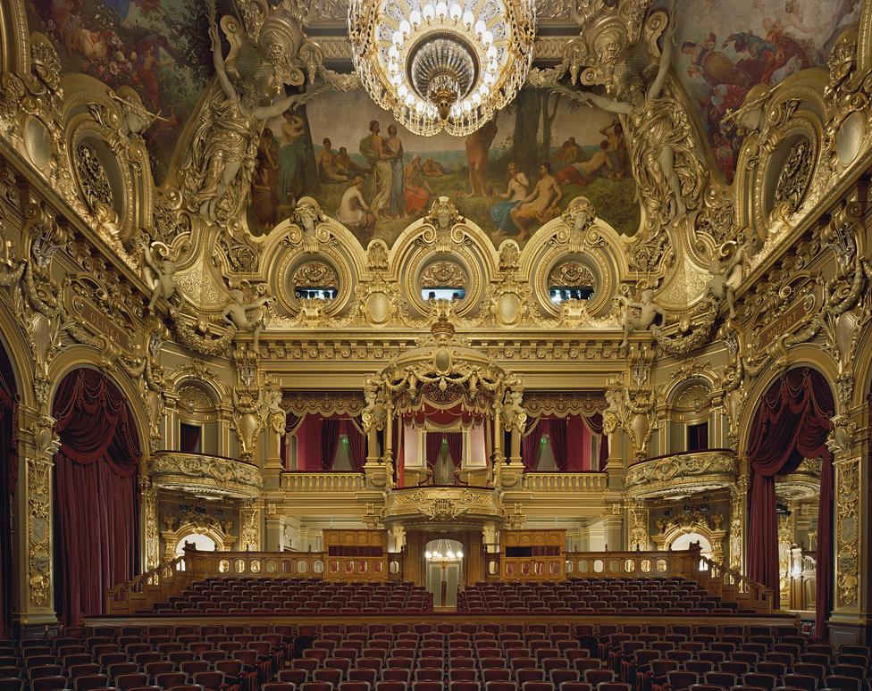 A Monte-Carlo-i operaház terme Monacóban
