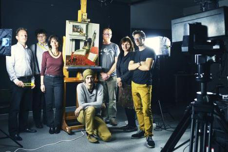 A Google Art Project csapata (Forrás: Szesztay Csanád, Szépművészeti Múzeum)