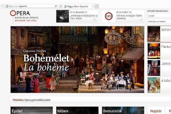 Operaház honlap