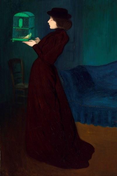 Rippl-Rónai József: Kalitkás nő, 1892