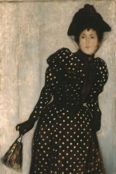 Rippl-Rónai József: Pöttyös ruhás nő, 1892