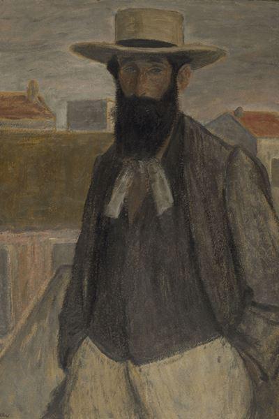 Rippl-Rónai József: Aristide Maillol portréja,1899