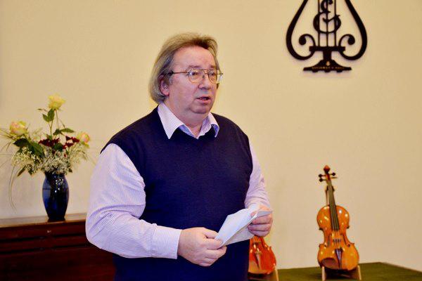 Lendvai Tamás, a Hangszerészképző Iskola címzetes igazgatója
