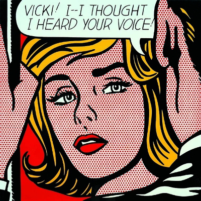 Roy Lichtenstein: Vicki, 1964. (Forrás: Ludwig Múzeum)