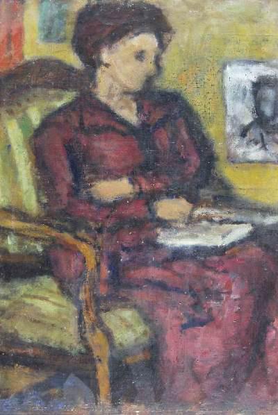 Czóbel Béla portréja Modok Máriáról