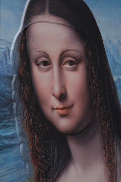 A 3D-s Mona Lisa egyik részlete